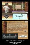 2004 Leaf Limited Lumberjacks Autographs Bat #8