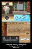 2004 Leaf Limited Lumberjacks Autographs Jersey #8