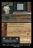 2004 Leaf Limited Lumberjacks Jersey #8