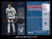2004 Leaf MVP Winners #12