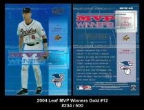 2004 Leaf MVP Winners Gold #12