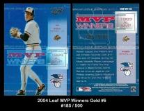 2004 Leaf MVP Winners Gold #6