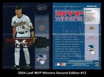 2004 Leaf MVP Winners Second Edition #12