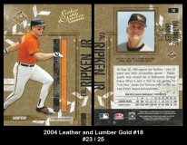 2004 Leather and Lumber Gold #18