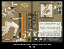2004 Leather and Lumber Gold BW #18