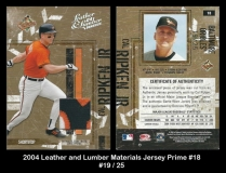 2004 Leather and Lumber Materials Jersey Prime #18