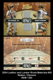 2004 Leather and Lumber Rivals Materials #36