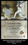 2004 National Pastime Buyback Game Used #CR3 01 AUTH DC