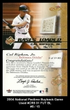 2004 National Pastime Buyback Game Used #CR5 01 FUT BL