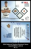 2004 National Pastime Buyback Game Used #CR6 01 LEG GI