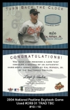 2004 National Pastime Buyback Game Used #CR8 01 TRAD TBC