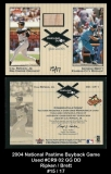2004 National Pastime Buyback Game Used #CR9 02 GG DD