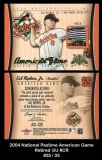 2004 National Pastime American Game Retired GU #CR