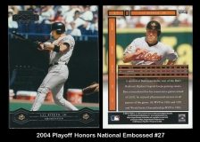 2004 Playoff Honors National Embossed #27
