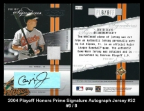 2004 Playoff Honors Prime Signature Autograph Jersey #32