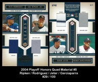 2004 Playoff Honors Quad Material #5