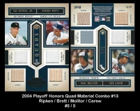 2004 Playoff Honors Quad Material Combo #13