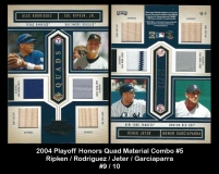 2004 Playoff Honors Quad Material Combo #5