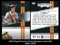 2004 Playoff Honors Signature Insert #32