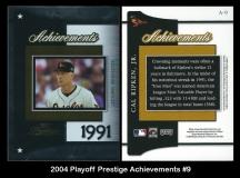 2004 Playoff Prestige Acheivements #9