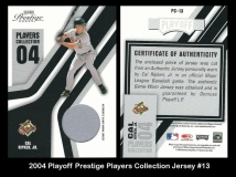 2004 Playoff Prestige Players Collection Jersey Blue #13