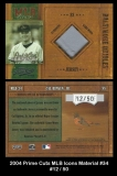2004 Prime Cuts MLB Icons Material #34