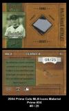 2004 Prime Cuts MLB Icons Material Prime #34