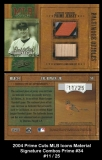 2004 Prime Cuts MLB Icons Material Signature Combos Prime #34