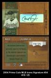 2004 Prime Cuts MLB Icons Signature #34