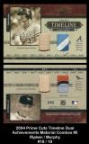 2004 Prime Cuts Timeline Dual Achievements Material Combos #5
