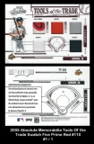 2005 Absolute Memorabilia Tools of the Trade Swatch Five Prime Red #110