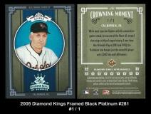 2005 Diamond Kings Framed Black Platinum #281