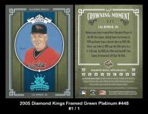 2005 Diamond Kings Framed Green Platinum #448
