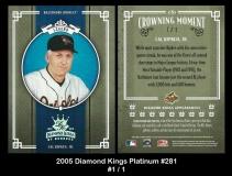 2005 Diamond Kings Platinum #281