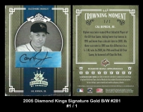 2005 Diamond Kings Signature Gold BW #281