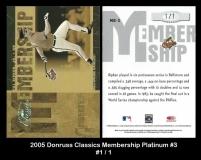 2005 Donruss Classics Membership Platinum #3