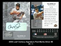 2005 Leaf Century Signature Post Marks Silver #8