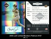 2005 Leaf Limited Monikers Platinum #167