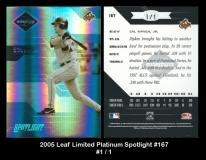 2005 Leaf Limited Platinum Spotlight #167