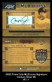 2005 Prime Cuts MLB Icons Signature Century Silver #9