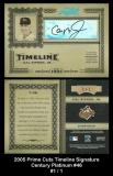 2005 Prime Cuts Timeline Signature Century Platinum #46