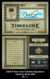 2005 Prime Cuts Timeline Signature Century Silver #46