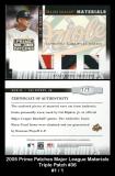 2005 Prime Patches Major League Materials Triple Patch #36