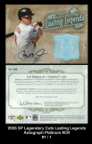 2005 SP Legendary Cuts Lasting Legends Autograph Platinum #CR