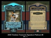 2005 Timeless Treasures Signature Platinum #8
