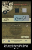 2005 Absolute Memorabilia Marks of Fame Signature Swatch Double #53