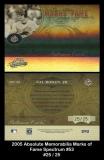 2005 Absolute Memorabilia Marks of Fame Spectrum #53
