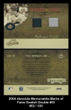 2005 Absolute Memorabilia Marks of Fame Swatch Double #53