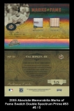 2005 Absolute Memorabilia Marks of Fame Swatch Double Spectrum Prime #53