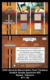 2005 Absolute Memorabilia Team Tandems Swatch Double Spectrum #35